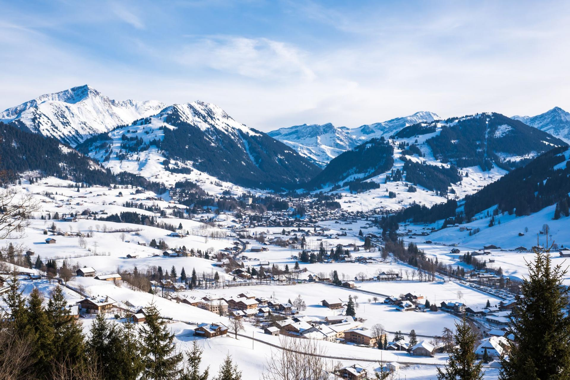 Gstaad Pano Winter
