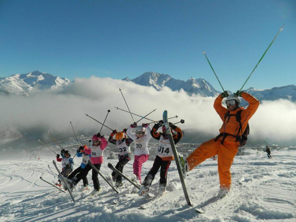 New generation ski lesson