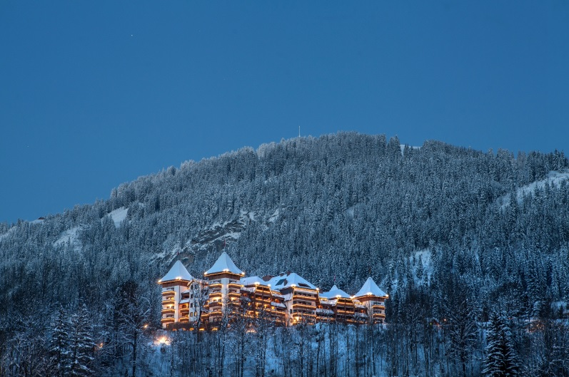 Stunning panorama of The Alpina in Gstaad