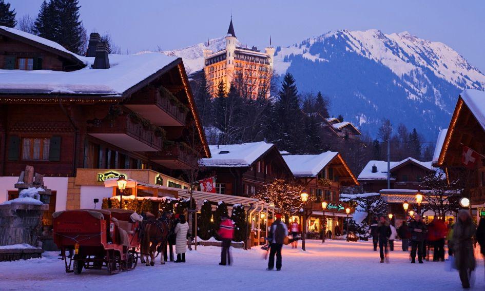 The beautiful ski resort of Gstaad