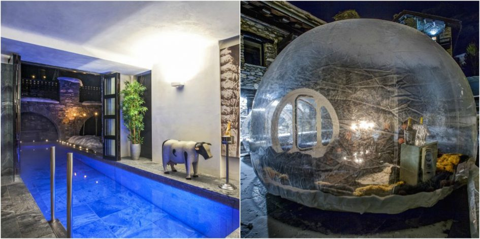 swimming-pool-and-romantic-igloo-at-unique-chalet-himalaya