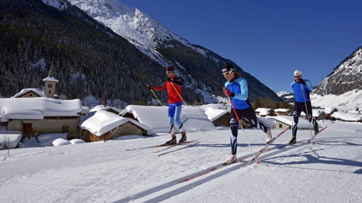cross-country skiing la plagne, la plagne cross-country skiing, xc la plagne