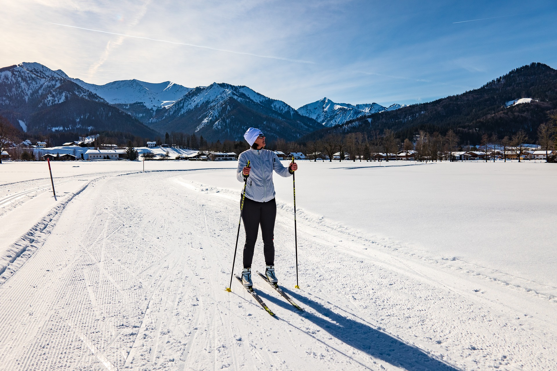 cross country skiing, xc skiing, cross-country skiing Alps, cross-country ski trails, introduction to cross-country skiing