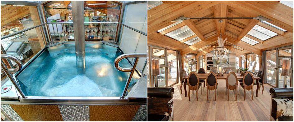 chalet with hot tub Zermatt, luxury chalet Zermatt, heinz julen