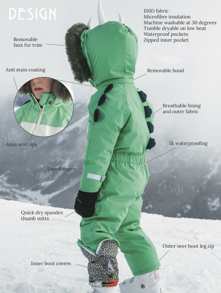 Functional and fun ski suits for kids