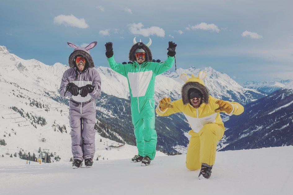 Founders of Dinoski- fun ski wear for kids
