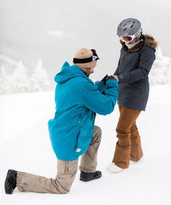 Ski holiday celebration