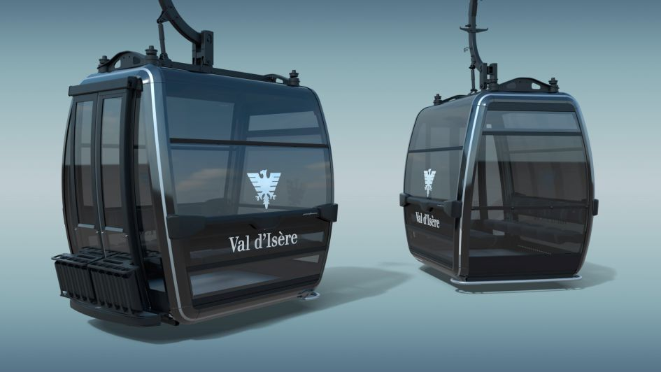 """The """"la Daille"""" gondola lift. Photo credit: Val d'Isère Téléphériques"""