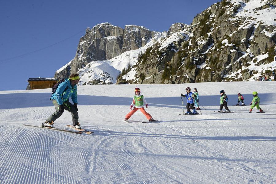 Family Skiing In Chamonix