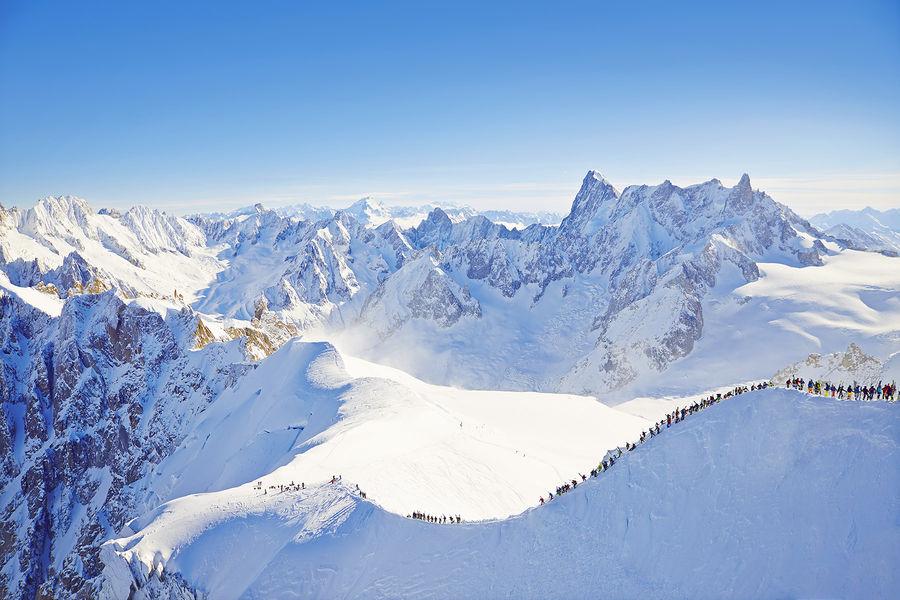 extreme skiing in Chamonix