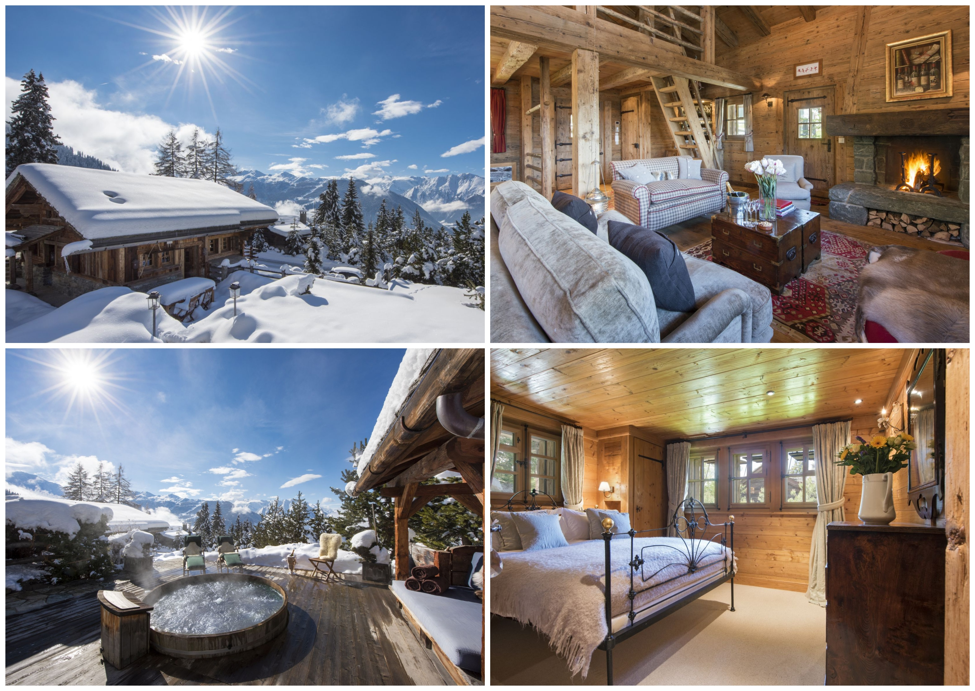 Romantic chalets with a hot tub. romantic ski chalet Verbier