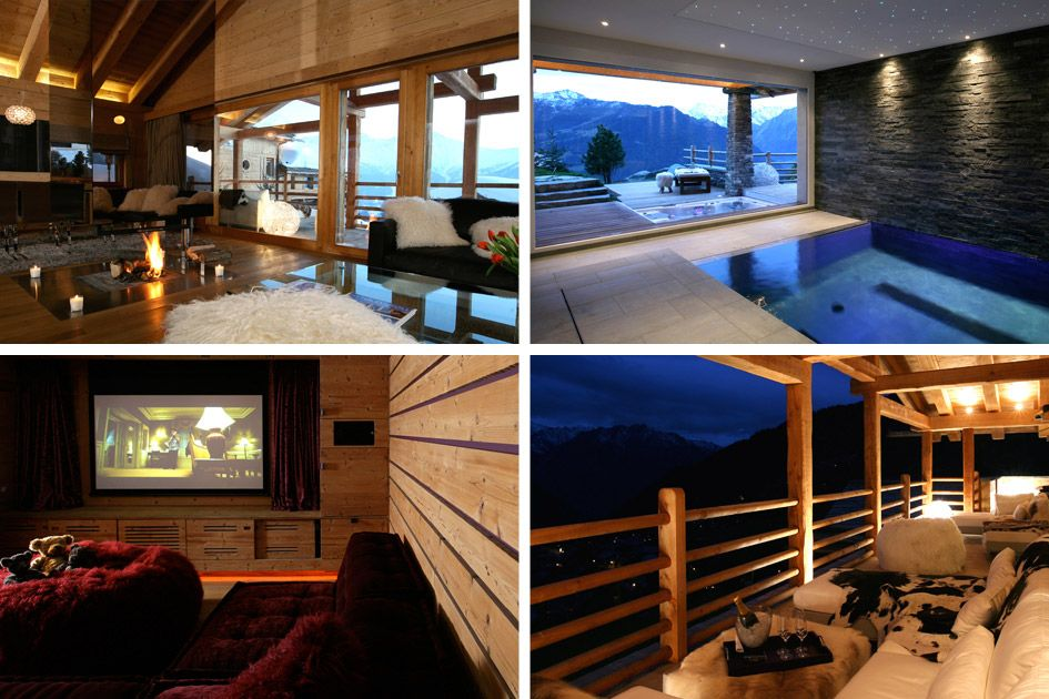 Ski chalets for two
