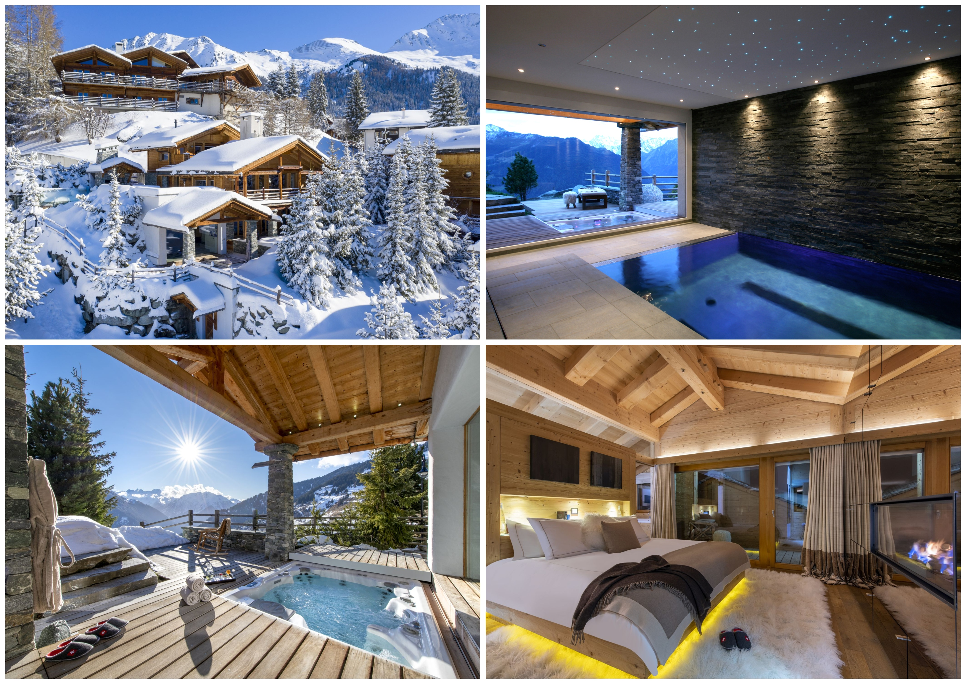 Ski chalets for two, romantic chalets Verbier, Verbier ski holiday, romantic ski holiday, romantic ski chalet Switzerland