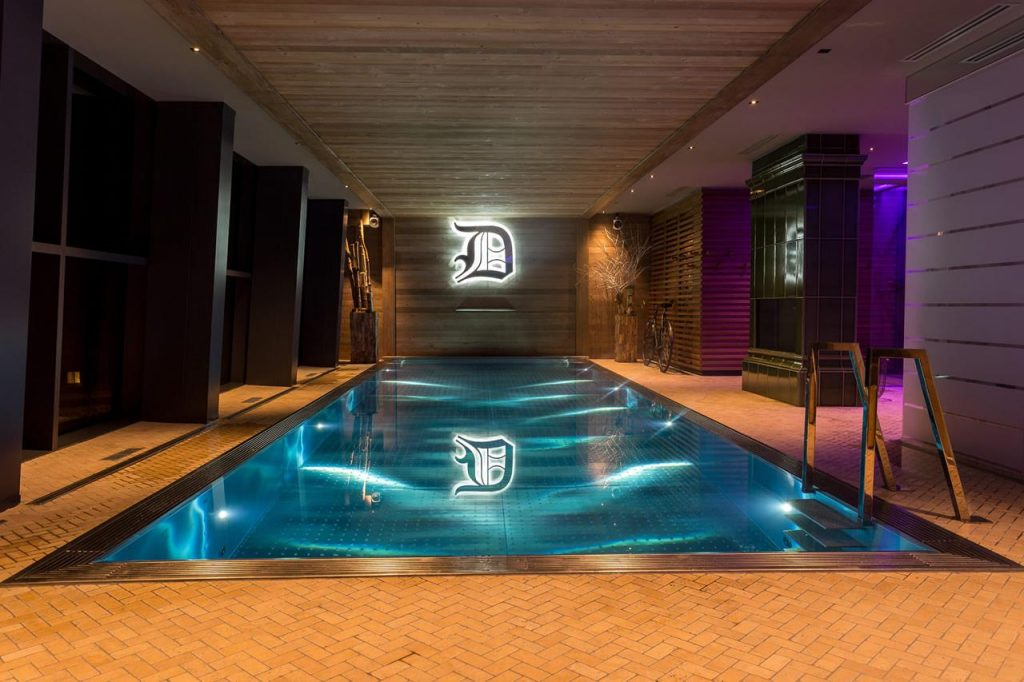 Val Thorens luxury ski chalet, ski chalet swimming pool, Folie Douce Val Thorens