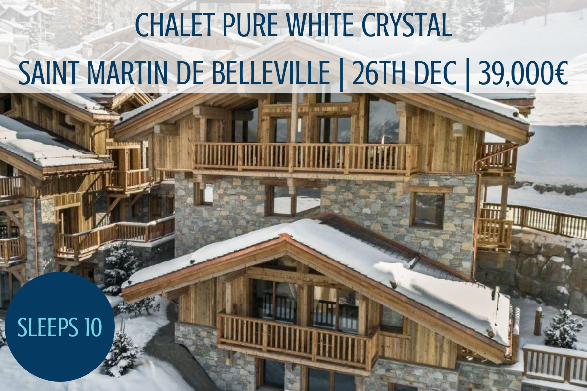 luxury chalet in the Three Valleys, luxury chalet at New Year, New Year in St Martin de Belleville, luxury chalet St Martin de Belleville