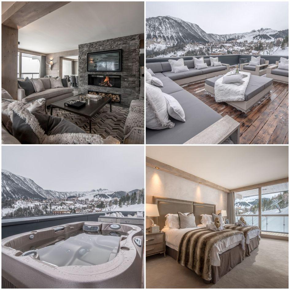 luxury penthouse in Courchevel Village, Courchevel Village accommodation, luxury chalet Courchevel village
