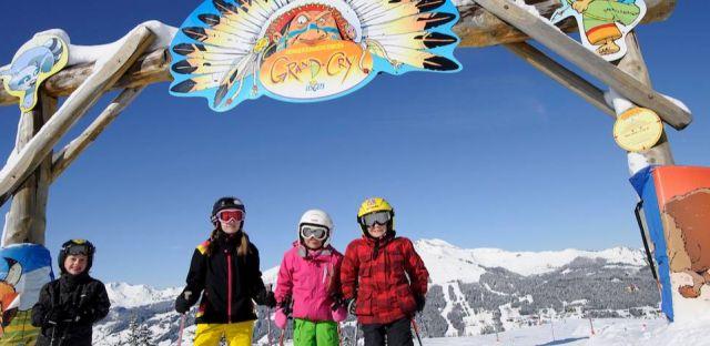 Family friendly ski resort, ski run for children, Les Gets for kids, kids ski