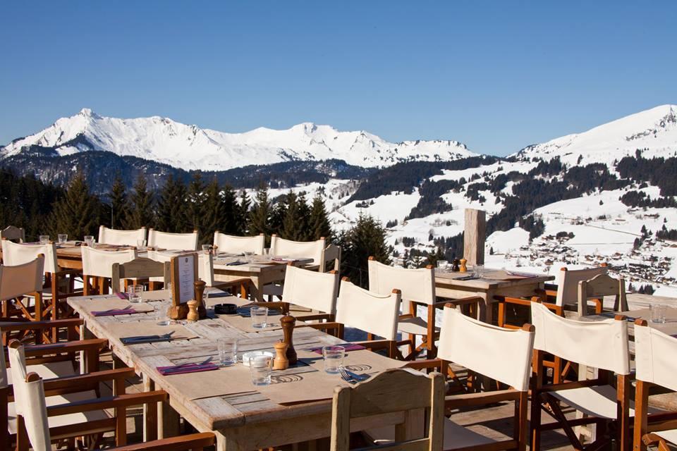 mountain restaurants, les gets, lunc stop