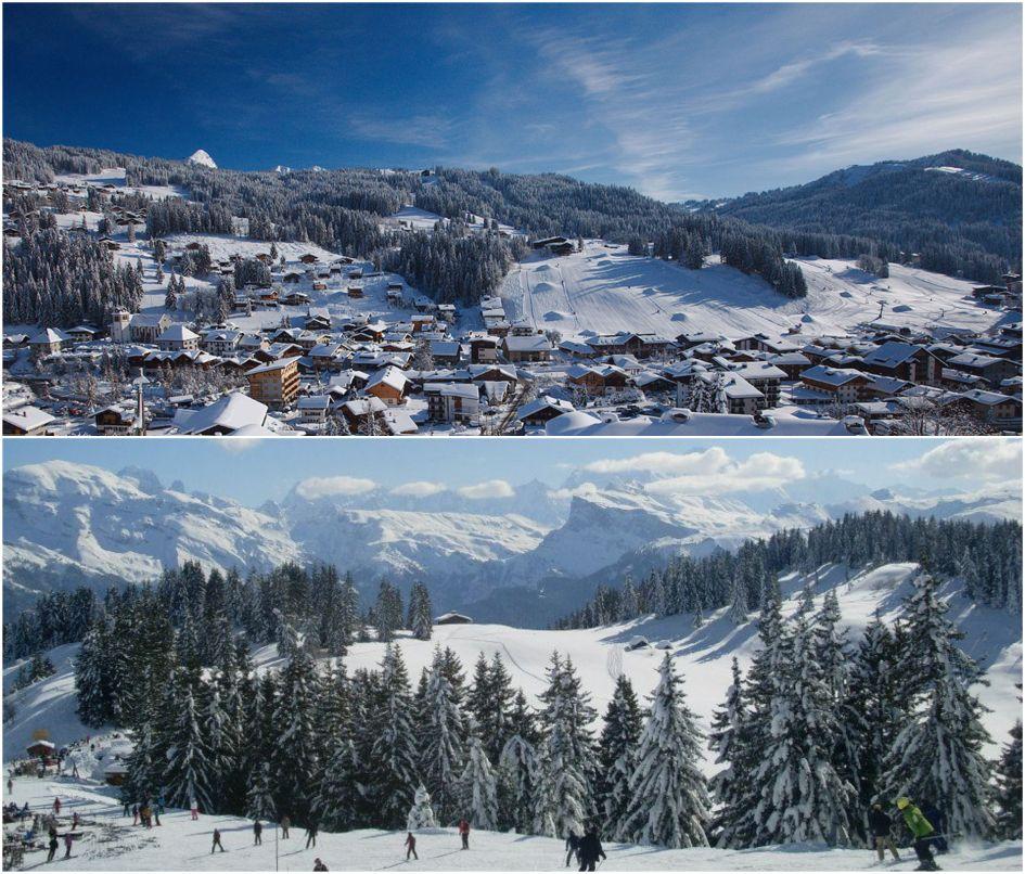 Les Gets, ski resort, ski village, mont chery