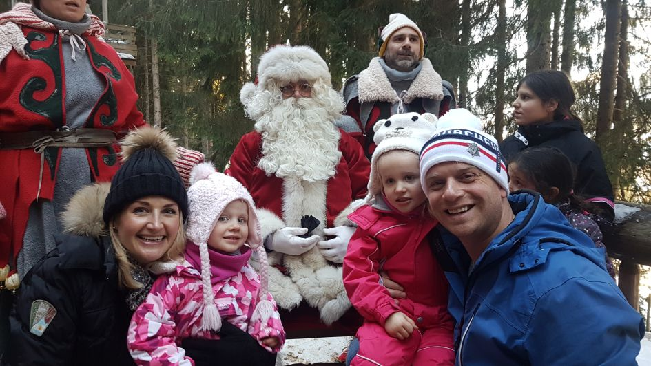 Father Christmas, grotto, forest, Christmas