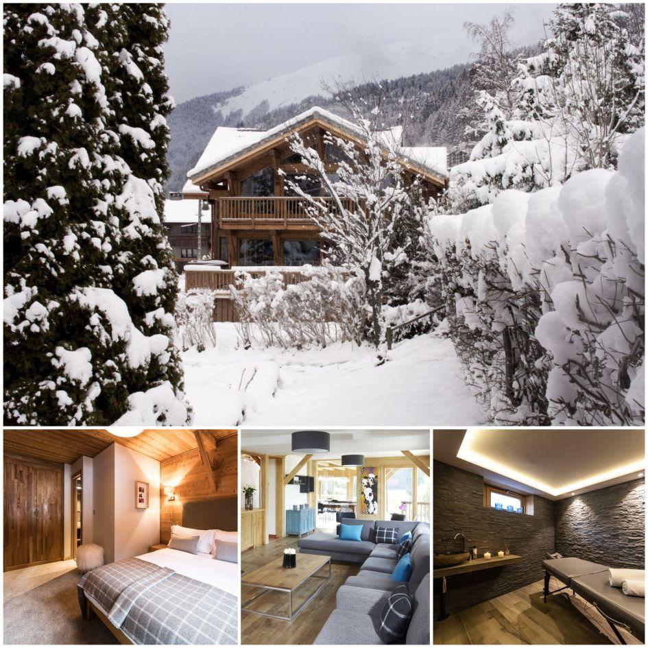 luxury ski chalet, morzine, skiing, christmas