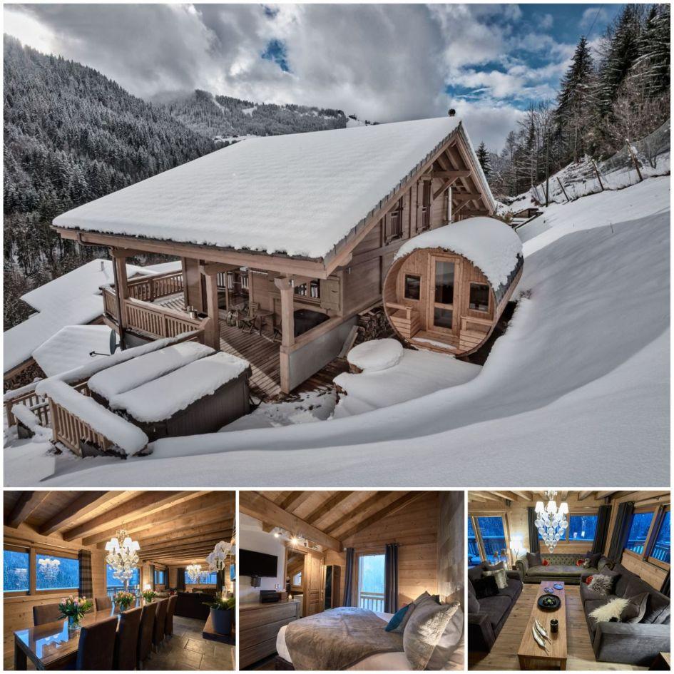 luxury ski chalet, morzine, skiing , luxury chalet