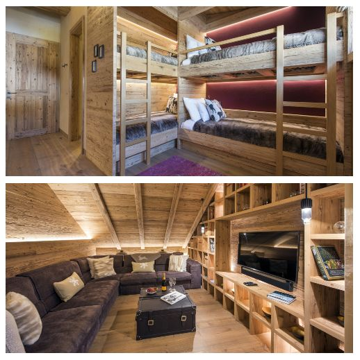 bunk room, cinema, TV snug, children, family ski holiday