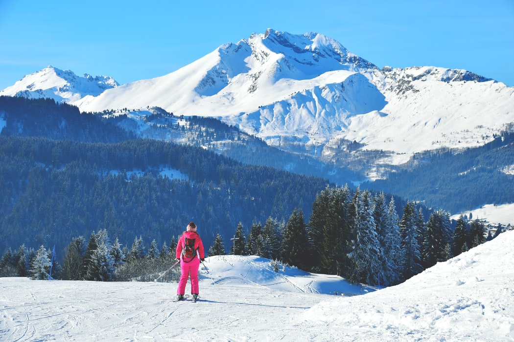 skier, Morzine, mountains, snow