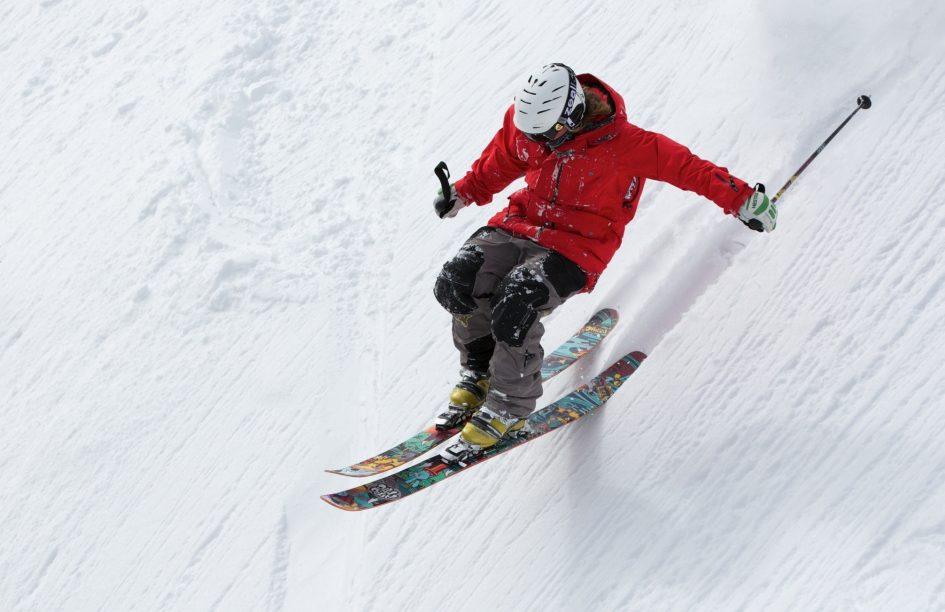 Back Country Skiing Fresh Powder