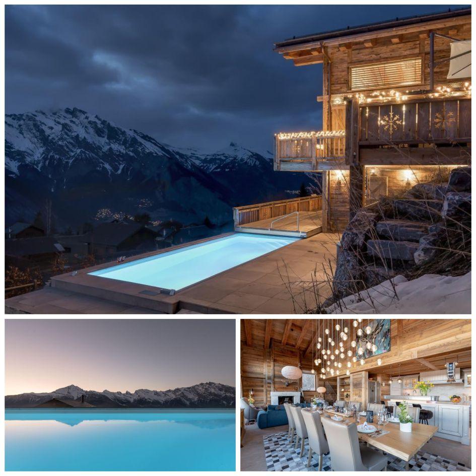 luxury chalet in Verbier, Verbier luxury catered chalet, luxury catered chalet, luxury chalets with swimming pools