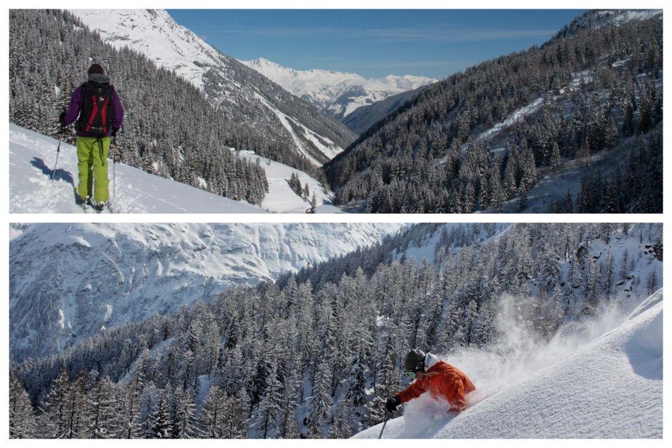 Sainte Foy Back Country Skiing. Image Credit: The Peak