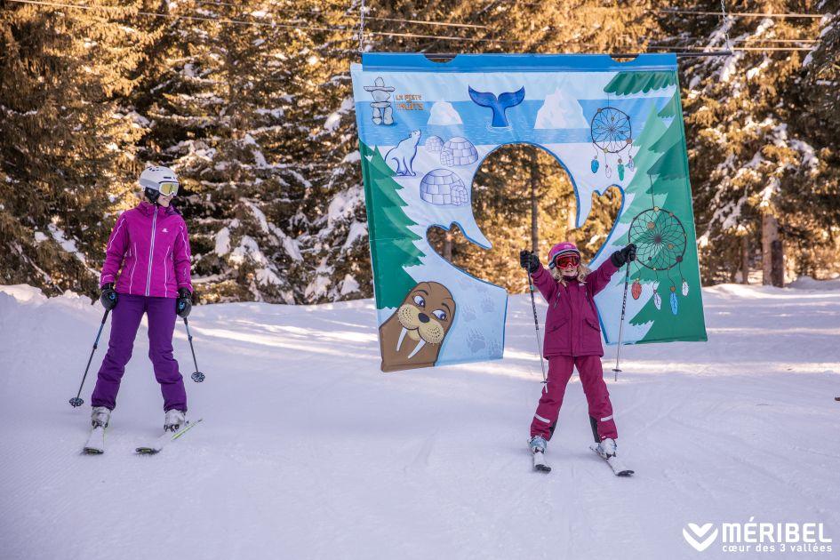 Meribel Family Ski, Beginner Ski Holiday, First Family Ski Holiday, Children's Ski Run