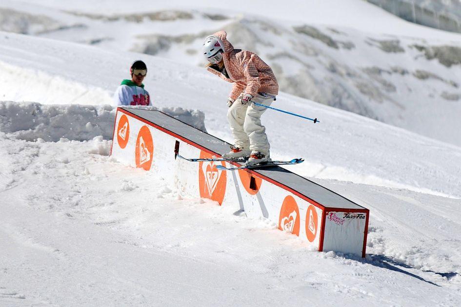 snow park, freestyle, ski park