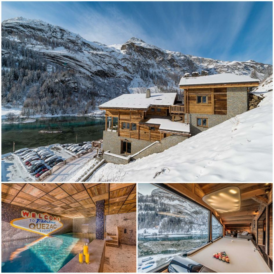 Chalet Quezac, luxury chalet with indoor swimming pool, Tignes best catered ski chalets, luxury catered ski chalets in Tignes