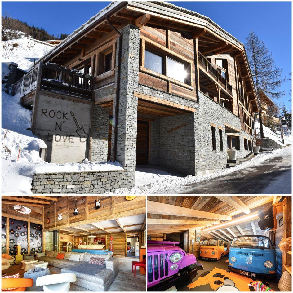Chalet Rock n Love, unique chalet design, Tignes best catered ski chalets, luxury family ski holiday, family ski holiday in Tignes