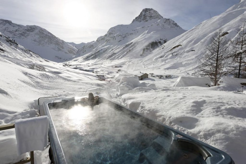 view-from-hot-tub-at-chalet-le-chardon-in-val-disere