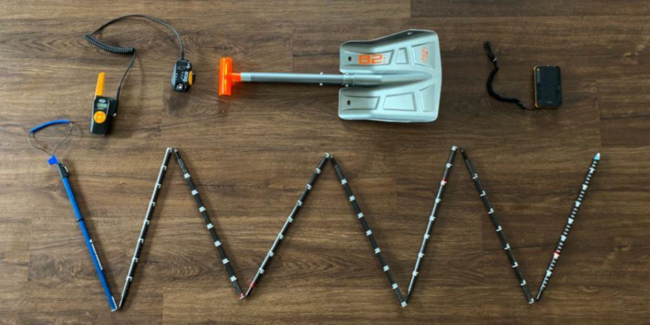 Avalanche Saftey, probe, shovel, beacon