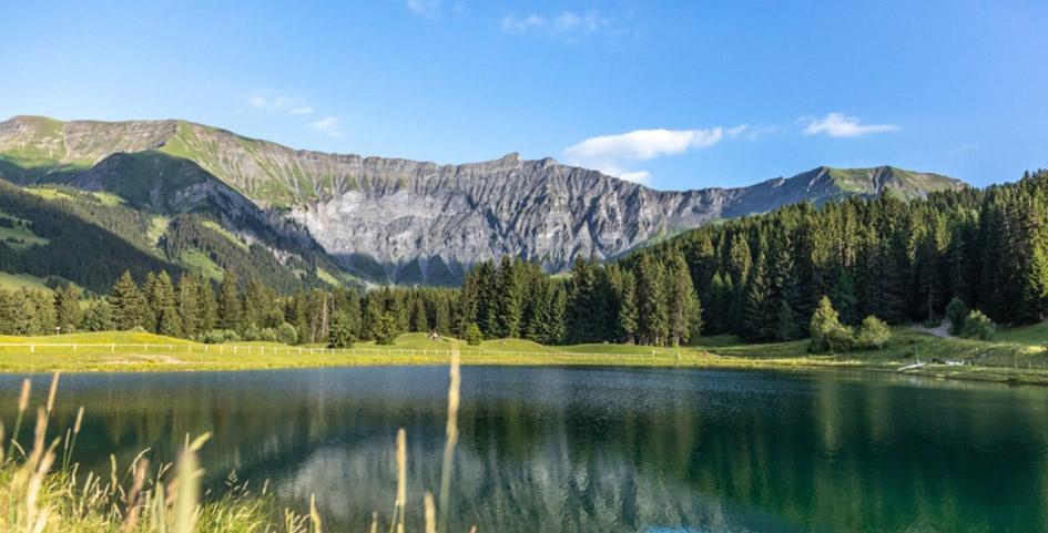 Enjoy the Mountains with a Megeve Desktop Wallpaper