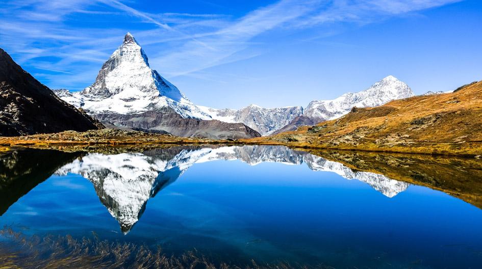 Matterhorn Across a Mountain Lake