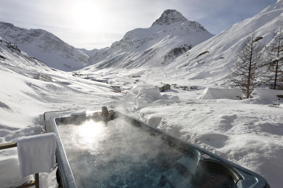 luxury chalet, swimming pool, pool with a view, Val d'Isere