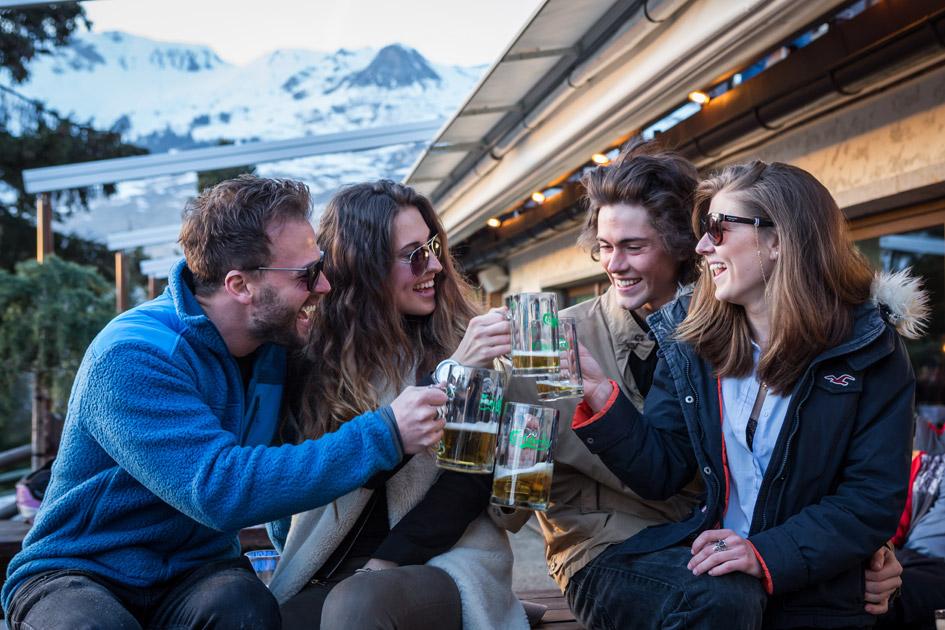 apres ski, Verbier apres ski, ski holiday with friends, ski holiday with family