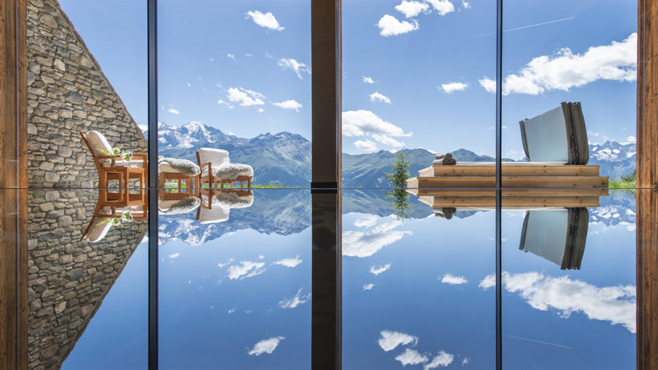 luxury chalet, swimming pool, pool with a view, verbier