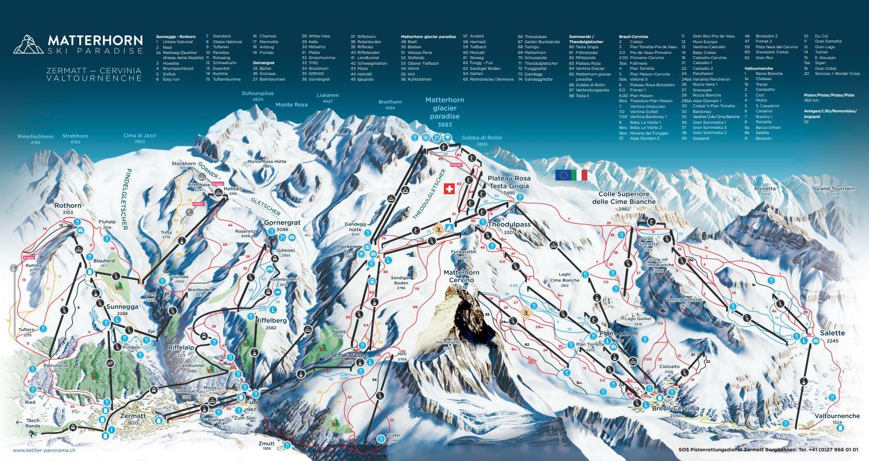 skiing in Zermatt, Matterhorn skiing, top ski runs in Zermatt, Zermatt ski school, Matterhorn Diamonds, Zermatt Piste Map