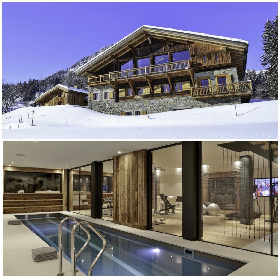 Fermes à la Leonthine, Megeve, Swimming Pool, Chalet, Snow, Mountains