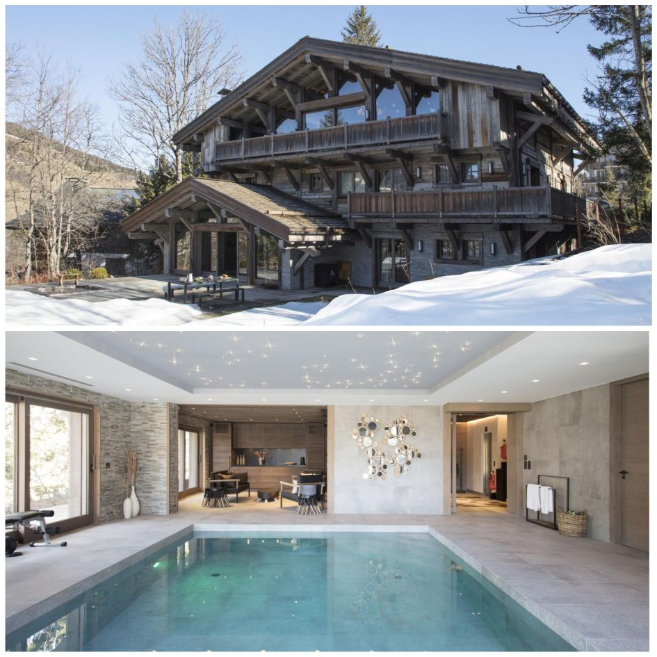 Chalet des Ecureuils, Megeve, Swimming Pool, Chalet, Wooden, Snow,