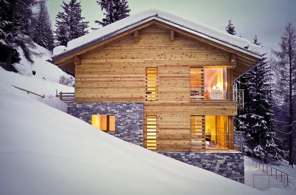 alpine retreat, remote chalets, escapism, wanderlust, luxury retreat, St Luc, Switzerland