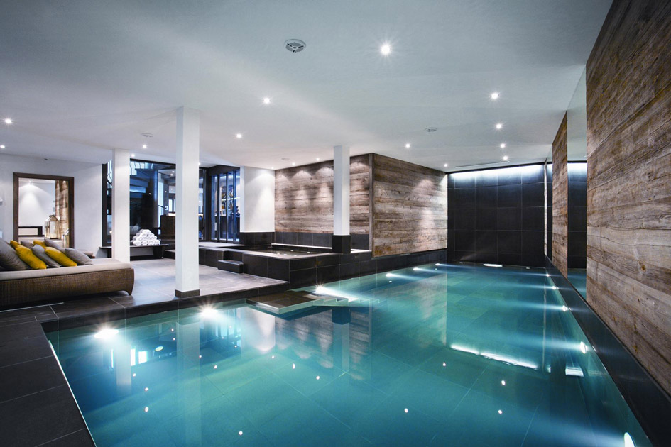 The Lodge swimming pool, chalet with swimming pool in Verbier, chalet with pool in Verbier, chalet swimming pools Verbier,