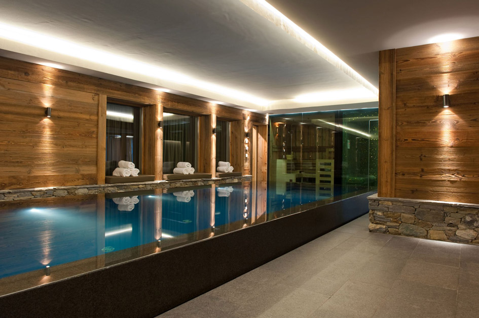 Chalet Dent Blanche swimming pool, chalet with swimming pool in Verbier, chalet with pool in Verbier, chalet swimming pools Verbier