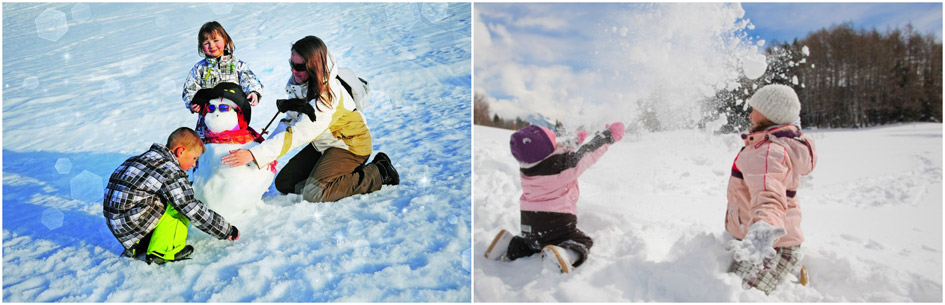 playing in the snow, snow fun, kids playing in the snow, luxury mountain holiday, winter activities, snow activities