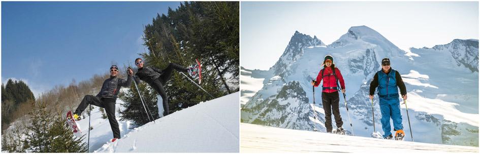 snowshoeing in the Alps, snowshoeing, mountain holidays, winter activities, snow activities, luxury mountain holidays